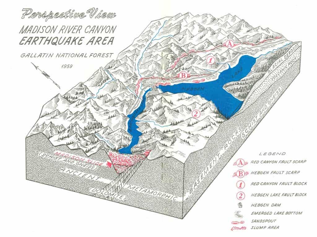 virtual exhibit madison river canyon earthquake national museum